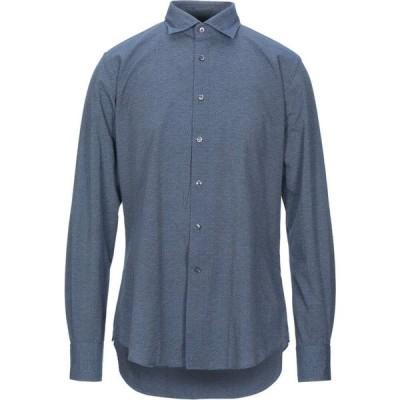 グランシャツ GLANSHIRT メンズ シャツ トップス Patterned Shirt Blue