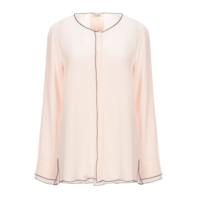 HER SHIRT シャツ ライトピンク S シルク 100% シャツ