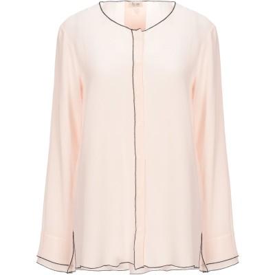HER SHIRT シャツ ライトピンク XS シルク 100% シャツ