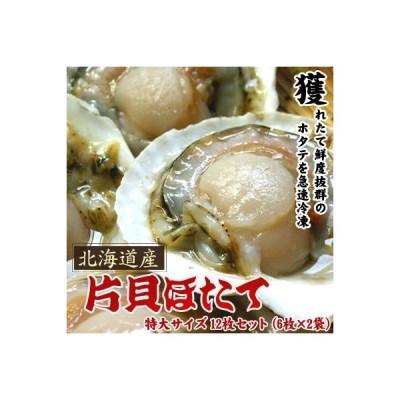 ホタテといえば北海道 片貝ホタテ 特大サイズ 12枚セット送料無料沖縄は送料別途加算