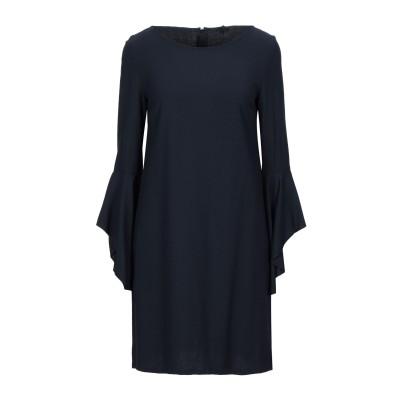 1-ONE ミニワンピース&ドレス ダークブルー 40 レーヨン 70% / バージンウール 28% / ポリウレタン 2% ミニワンピース&ドレス