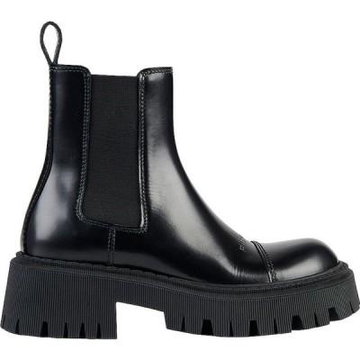 バレンシアガ Balenciaga レディース ブーツ ブーティー シューズ・靴 tractor booties Black