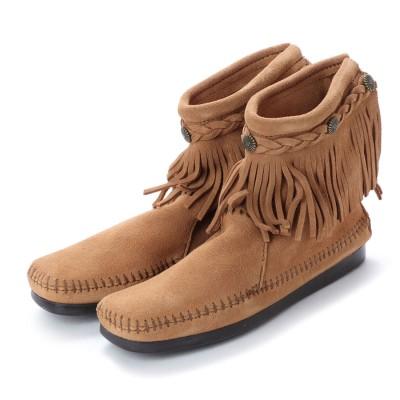 ミネトンカ Minnetonka Hi Top Back Zip Boots (トープ)