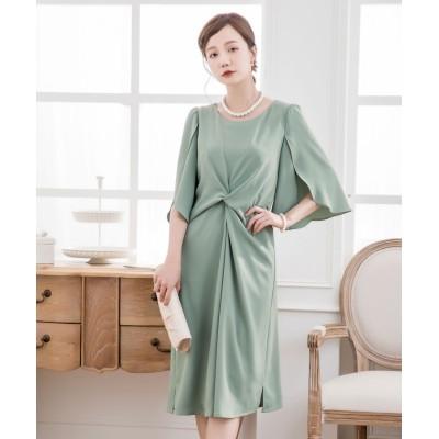 (DRESS STAR/ドレス スター)ウエスト絞りデザインワンピースドレス/レディース ミント