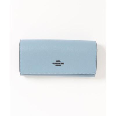 COACH / フラップ ウォレット クロスグレイン レザー WOMEN 財布/小物 > 財布