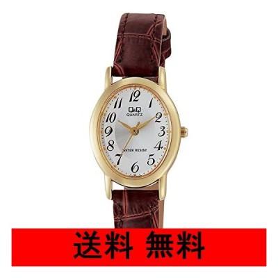 [シチズン Q&Q] 腕時計 アナログ 防水 革ベルト VZ89-104 レディース ゴールド