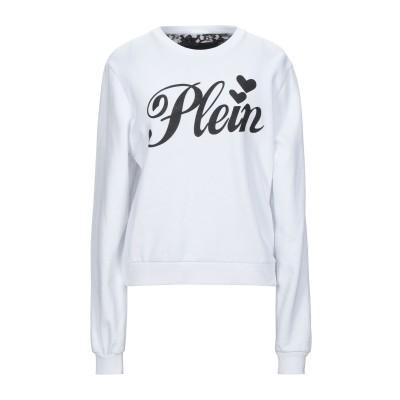 PHILIPP PLEIN スウェットシャツ ホワイト XS コットン 100% スウェットシャツ