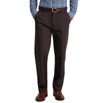 ハガー メンズ カジュアルパンツ ボトムス Men's Iron Free Premium Khaki Classic-Fit Flat-Front Pant