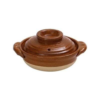 マルヨシ陶器(Maruyoshitouki) 土鍋 ブラウン 0.35L M0723 (ブラウン)