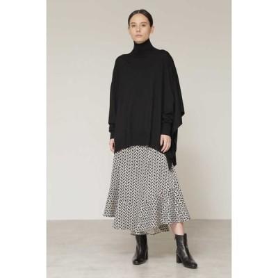 BOSCH / ボッシュ 幾何プリントマキシフレアスカート