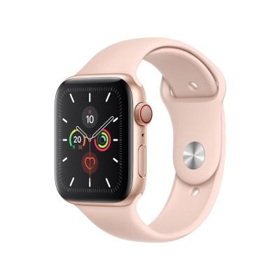 Apple Watch Series 5(GPS + Cellularモデル)- 44mm ゴールドアルミニウムケースとピンクサンドスポーツバンド MWWD2J/A