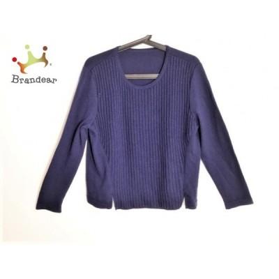 レリアン Leilian 長袖セーター サイズ13+ S レディース 美品 ネイビー  値下げ 20200514