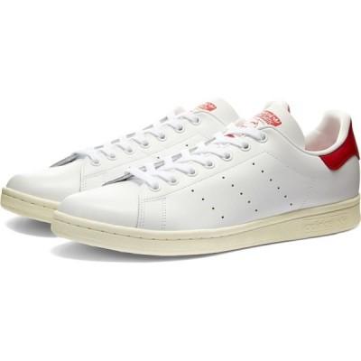 アディダス Adidas メンズ スニーカー シューズ・靴 stan smith White/Off White/Scarlet