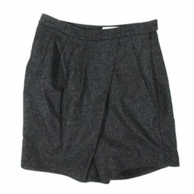 【中古】ノット KNOTT トゥモローランド ラップ風 タック キュロット パンツ サイズ0 グレー ◎12 レディース