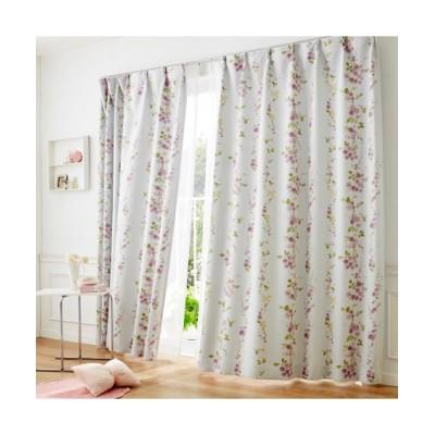 リーフ柄遮光カーテン ドレープカーテン(遮光あり・なし) Curtains, blackout curtains, thermal curtains, Drape(ニッセン、nissen)
