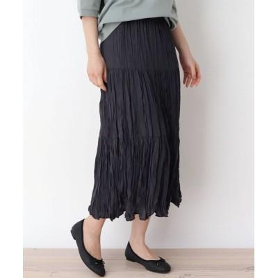 WORLD ONLINE STORE SELECT / 【M-L】シュリンクプリーツティアードスカート WOMEN スカート > スカート