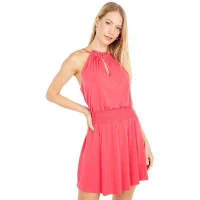ワンステイト レディース ワンピース トップス Halter Neckline Smocked Waist Dress