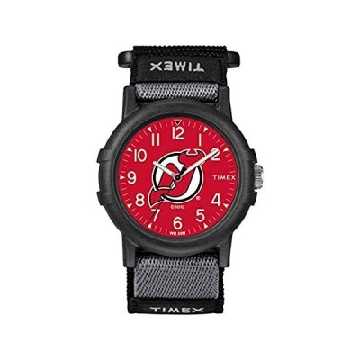 Timex ユース TWZHDEVYA NHL リクルート ニュージャージー・デビルズ 腕時計