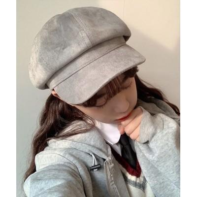 STYLEBLOCK / スエードタッチ無地キャスケット WOMEN 帽子 > キャスケット
