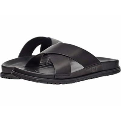 (取寄)アグ メンズ ワインスコット スライド UGG Men's Wainscott Slide Black Leather