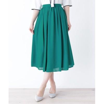 SOUP / 【大きいサイズあり・13号・15号】ミモレ丈フレアスカート WOMEN スカート > スカート