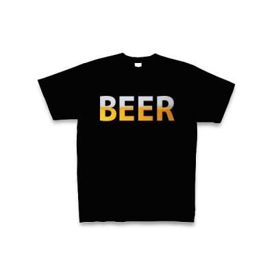 BEER Tシャツ Pure Color Print(ブラック)