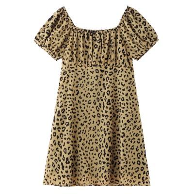 【エックスガール/X-girl】 SHEER LEOPARD DRESS