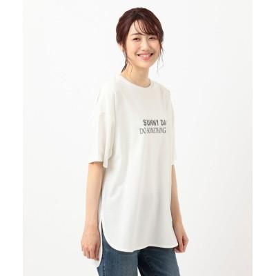 (anyFAM/エニィファム)オーガビッツプリントTシャツ/レディース アイボリー系