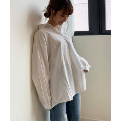 フューティアランド Futier Land ワイドBIGシャツ (ホワイト)