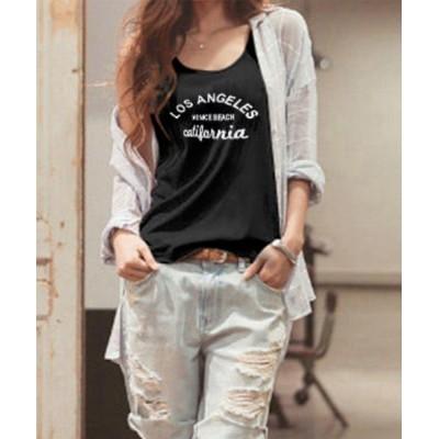 tシャツ Tシャツ ノースリーブ プリントTシャツ