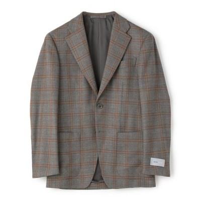 ジャケット テーラードジャケット ESTNATION / ウールストレッチ2Bチェックジャケット