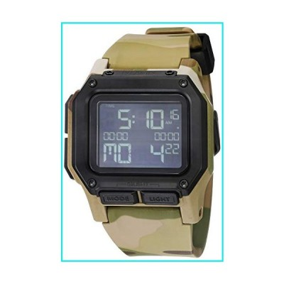 NIXON Regulus A1180 - Multicam - 100m Water Resistant Men's Digital Sport Watch (46mm Watch Face, 29mm-24mm Pu/Rubber/Silicone Band)【並行輸入品