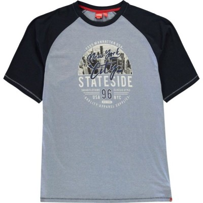 D555 メンズ Tシャツ トップス Jarvis NY T Shirt Sky Blue Marl
