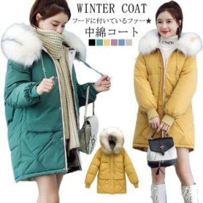 暖かい コート 中綿 コート 中綿 モッズコート ミリタリー コート ジャケット フード付き 中綿コート レディース 通勤 防寒 軽量 アウタ