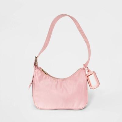 ワイルドファブル Wild Fable レディース ショルダーバッグ バッグ Zip Closure Extended Buckle Crossbody Bag - Pink