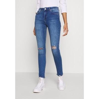 エヌ エー ケイ ディ レディース デニムパンツ ボトムス MID WAIST DESTROYED - Jeans Skinny Fit - mid blue mid blue