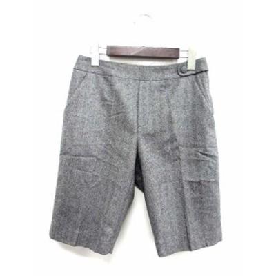 【中古】クーム COOMB ショート パンツ 36 S グレー ウール スラックス ハーフ へリンボーン レディース