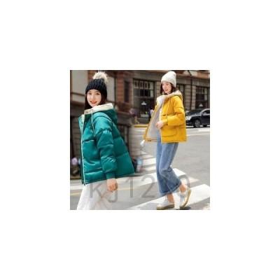 ダウンコートレディース秋冬アウターダウンジャケットフード付き暖かいショート丈学生風新作ファッション