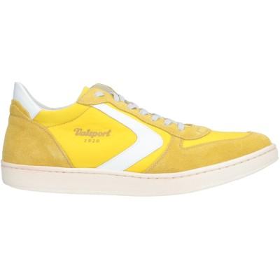 VALSPORT スニーカー&テニスシューズ(ローカット) イエロー 42 革 / 紡績繊維 スニーカー&テニスシューズ(ローカット)