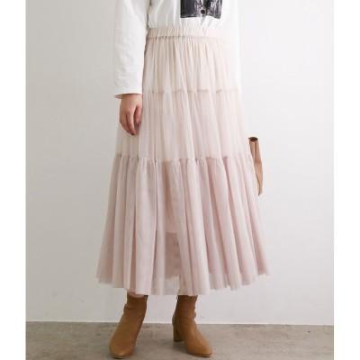 【ロペピクニック/ROPE' PICNIC】 チュールティアードスカート