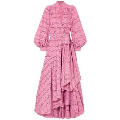 ANNA MASON 7分丈ワンピース・ドレス ピンク 6 コットン 100% 7分丈ワンピース・ドレス