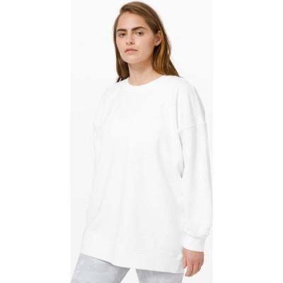 ルルレモン lululemon レディース トップス Perfectly Oversized Crew White