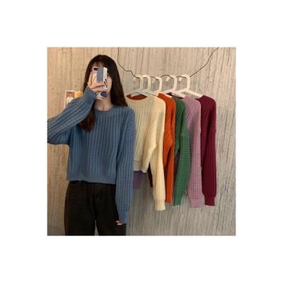 【送料無料】小 個 息子 セーターの女性 秋と冬 韓国風 ルース 何でも似合う ティーヘッジ 短いス   346770_A64128-0403920