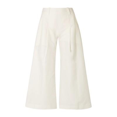 CULT GAIA パンツ ホワイト XS コットン 55% / リネン 45% パンツ