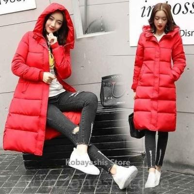 激安ロングコートレディース中綿コート黒ブラック30代40代50代ダウンコート赤フード付きコート冬アウターグレー暖かい