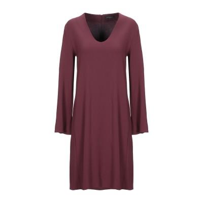 ANTONELLI ミニワンピース&ドレス ボルドー 40 レーヨン 70% / アセテート 26% / ポリウレタン 4% ミニワンピース&ドレス