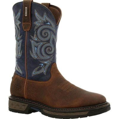 ジョージアブーツ Georgia Boot メンズ ブーツ シューズ・靴 Carbo-Tec LT Waterproof Pull On Boot brown and navy