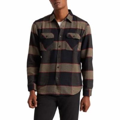 ブリクストン Brixton メンズ シャツ ネルシャツ トップス bowery flannel shirt Heather Grey/charcoal