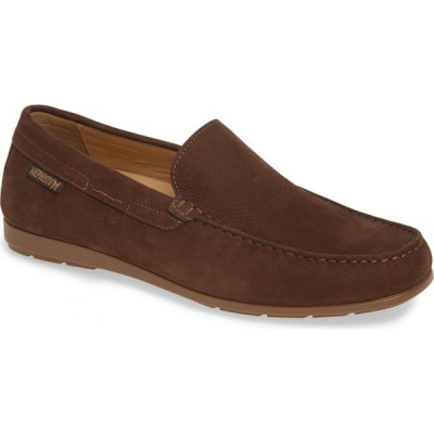 メフィスト MEPHISTO メンズ スリッポン・フラット シューズ・靴 'Algoras' Slip-On Dark Brown