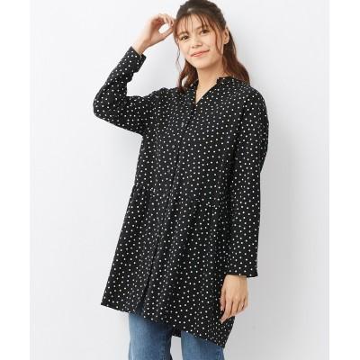 大きいサイズ 綿100%選べるデザインシャツチュニック ,スマイルランド, plus size tops,